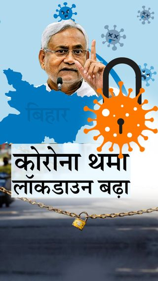 अब 25 मई तक जारी रहेंगी पाबंदियां; CM नीतीश बोले- लॉकडाउन से हालात सुधर रहे, इसलिए इसे बढ़ाया - बिहार - Dainik Bhaskar