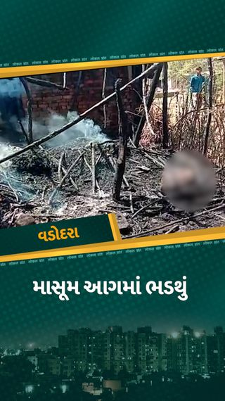 વડોદરાના તરસવા ગામમાં મકાનમાં આગ લાગતા 6 વર્ષના બાળકનું મોત, એક બાળકનો બચાવ, એમ્બ્યુલન્સ ન આવતા લોકોમાં આક્રોશ - વડોદરા - Divya Bhaskar