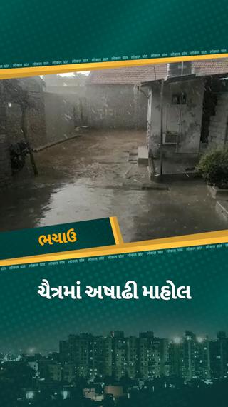 કચ્છના ભચાઉમાં ચૈત્રમાં અષાઢી માહોલ, ગ્રામ્ય વિસ્તારોમાં ગાજવીજ સાથે વરસાદ વરસતા રસ્તાઓ પાણી પાણી થયા - ભુજ - Divya Bhaskar