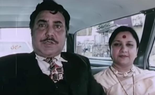 ओम शिवपुरी के साथ सुधा शिवपुरी।