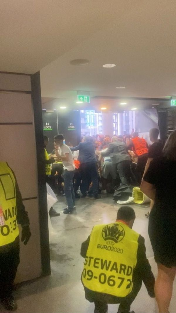 For the Euro Cup final, a separate gate was opened for the entry of the handicapped.