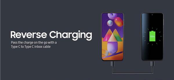 गैलेक्सी M31s रिवर्स चार्जिंग को भी सपोर्ट करता है और 25W चार्जर के साथ-साथ USB टाइप- C टू USB टाइप- C केबल के साथ आता है।