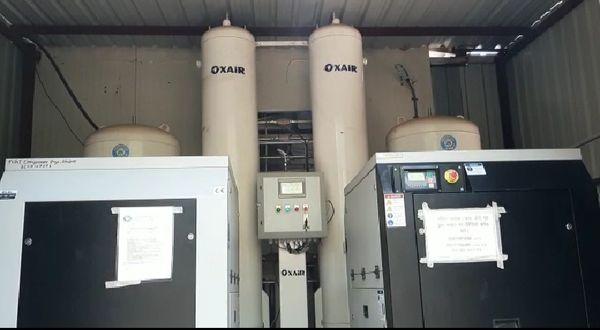 जिला अस्पताल में वर्तमान संचालित ऑक्सीजन प्लांट।