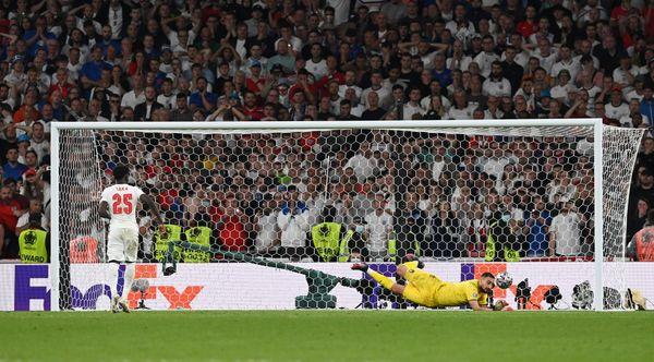 England's Bukayo Saka missed the goal in the penalty shootout.  With this, England's dream of winning the first Euro Cup title was also shattered.