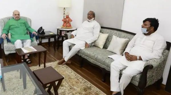 गुरुवार को अमित शाह से डॉ. संजय निषाद ने मुलाकात की।