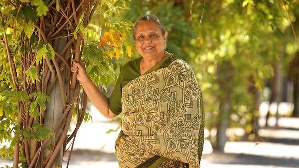 Ila Gandhi, granddaughter of Mahatma Gandhi and mother of Ashish Lata