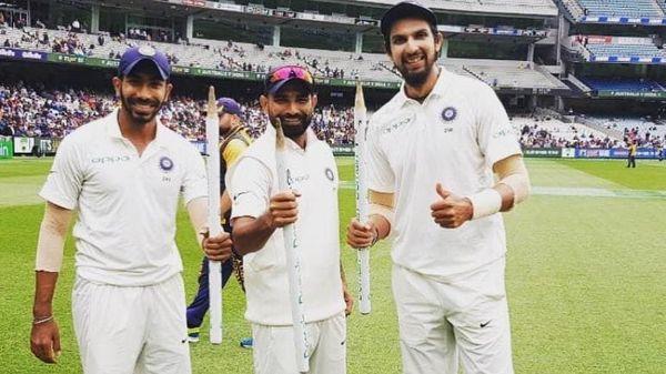 भारतीय टीम 3 पेस बॉलर्स और 2 स्पिनर्स के साथ मैदान पर उतरी थी। बुमराह को कोई विकेट नहीं मिला। शमी को 4, ईशांत को 3, अश्विन को 4 और जडेजा को 1 विकेट मिला।