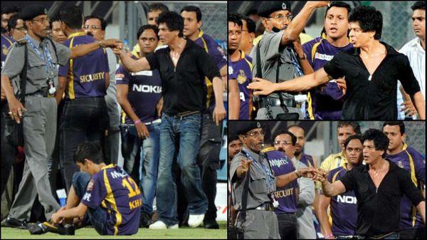 2012 में एक मैच के बाद, शाहरुख ने मुंबई क्रिकेट एसोसिएशन के साथ हाथापाई की और सुरक्षा गार्ड से भी बात की।