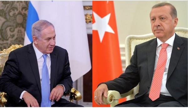 1949 से तुर्की और इज़राइल के बीच राजनीतिक संबंध रहे हैं।  इजरायल के पीएम नेतन्याहू और तुर्की के राष्ट्रपति रेसेप तईप एर्दोगन (फाइल)