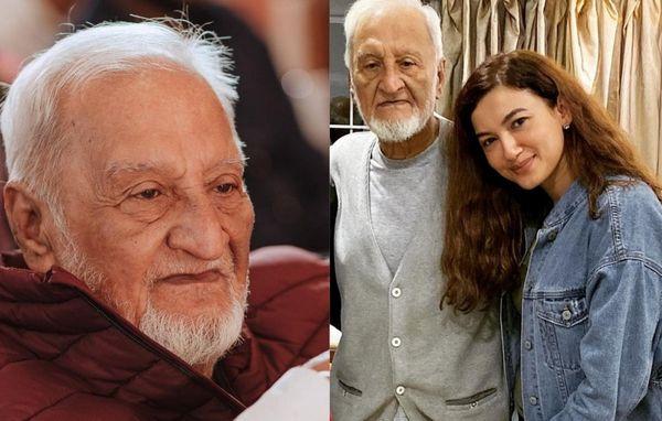 पिता जफर अहमद खान के साथ गौहर।