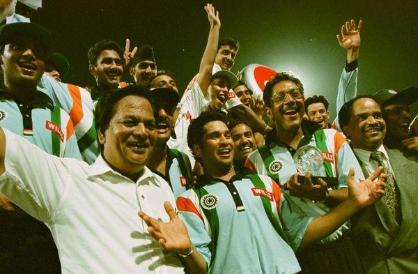 फाइनल में सचिन ने 134 रनों की पारी खेली।