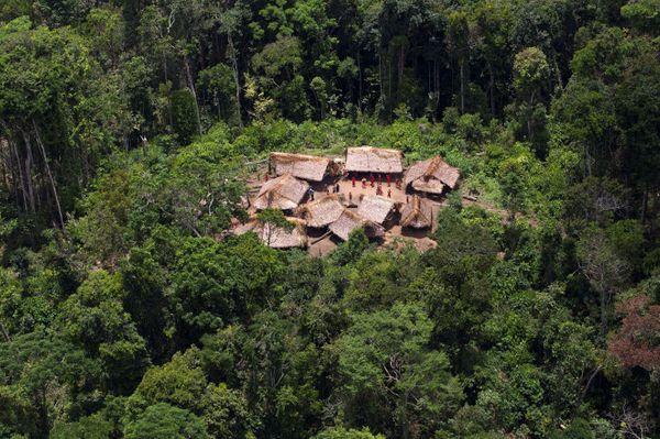यानोमामी जनजाति एक गांव। तस्वीर साभार : रायटर
