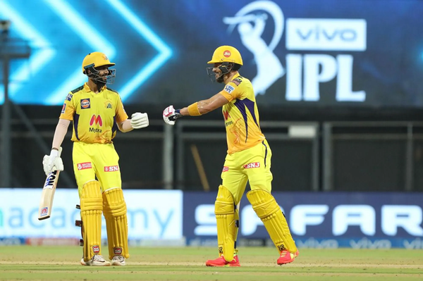 Rituraj Gaekwad and Faf du Plessis shared a 115-run stand for the first wicket.