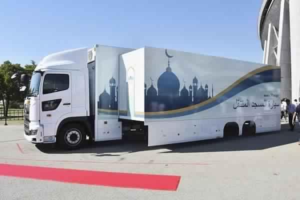 ट्रक को मोबाइल मस्जिद में बदलने का काम यासू प्रोजेक्ट ने किया है। ट्रक को इस प्रकार तैयार किया गया है कि पार्किंग के बाद वह एक मस्जिद में बदल जाता है।