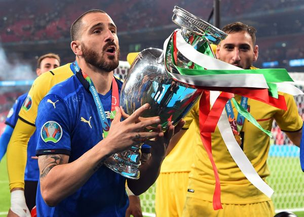 Italy's Leonardo Banucci scored in the 67th minute of the match.  He became the oldest player to score in the final of the Euro Cup.  His age was 34 years 71 days.