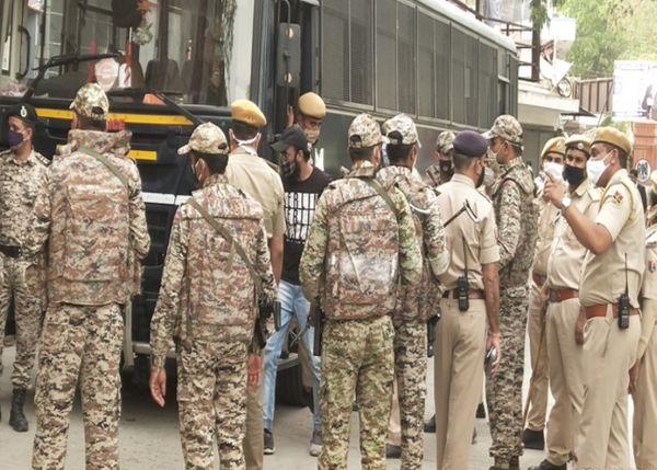 जयपुर की जिला कोर्ट में पुलिस सुरक्षा में राजस्थान के गुनाहगार