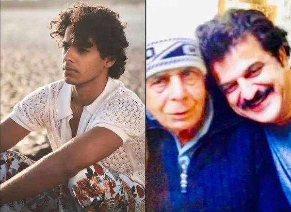 ईशान खट्टर और पिता कृष्णा खट्टर के साथ राजेश खट्टर
