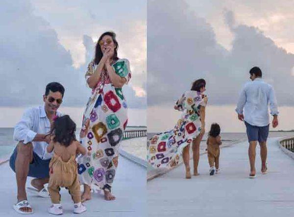 નેહા ધૂપિયા તેના પરિવાર સાથે