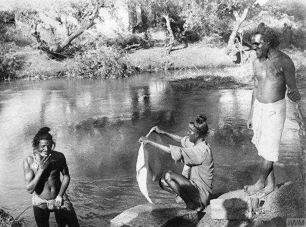 भारतीय सैनिकों ने 1918 की गर्मियों में फिलिस्तीन में उजा नदी में स्नान किया (फाइल फोटो)