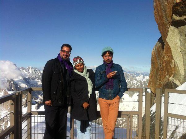 स्विट्जरलैंड में अनूप सिंह के साथ