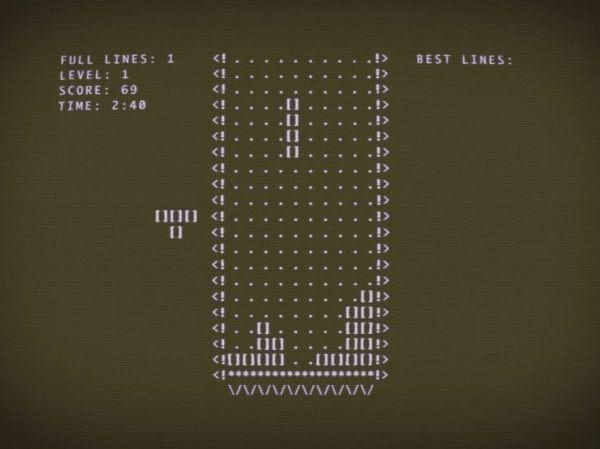 1984 में पहली बार बनाया गया टेट्रिस गेम कुछ इस तरह दिखता था।