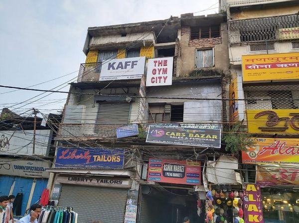 अशोक राजपथ पर पटना मार्केट के पास 'द जिम सिटी'।