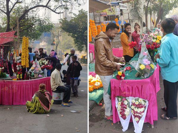 શાહીબાગ વિસ્તારમાં રીવરફ્રન્ટ હોવાથી યુવક-યુવતી અહીંના ફૂલ બજારમાં ઉમટી આવ્યા
