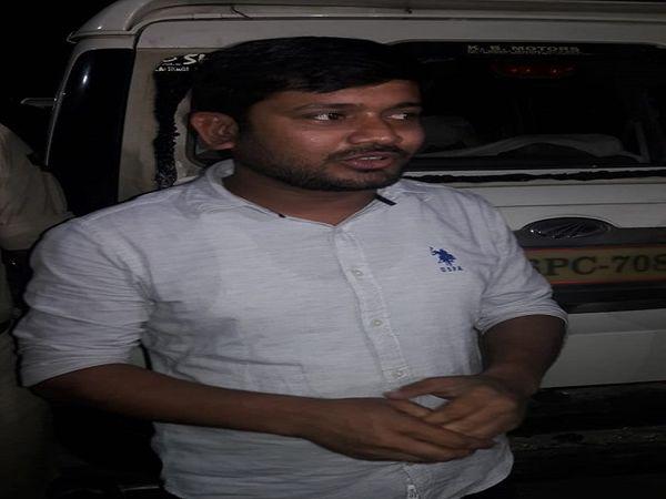 घटना के बारे में बताते कन्हैया कुमार - Dainik Bhaskar