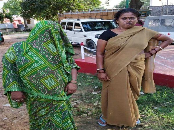 मुखिया की हत्या में गिरफ्तार महिला वार्ड पार्षद। - Dainik Bhaskar
