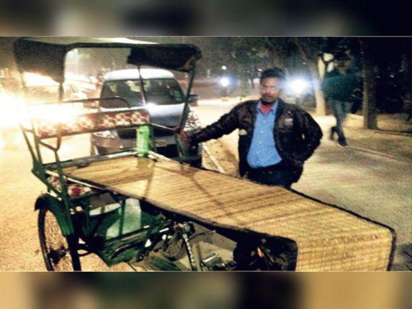 आईआईटी के छात्रों द्वारा बनाई गई रिक्शे की शीट। - Dainik Bhaskar