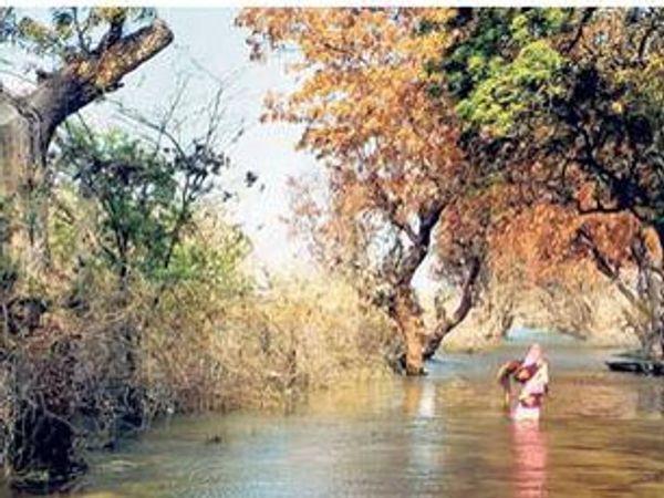 यहां से महज 500 मीटर दूर है राजघाट। - Dainik Bhaskar