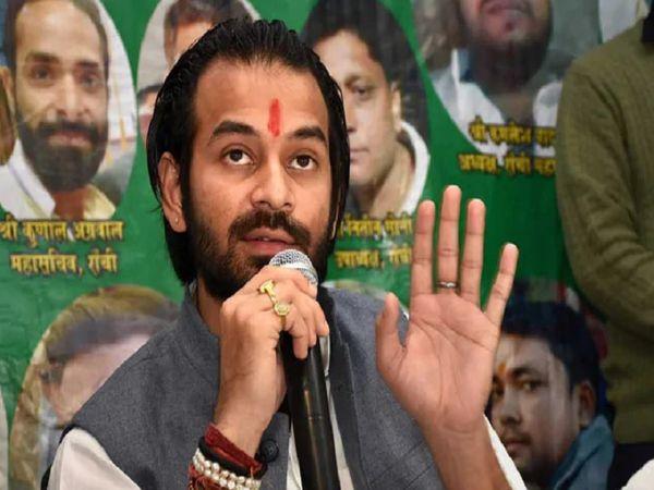 तेज प्रताप ने मुख्यमंत्री नीतीश कुमार और सुशील मोदी के खिलाफ बेतुका बयान दिया था, फाइल फोटो। - Dainik Bhaskar