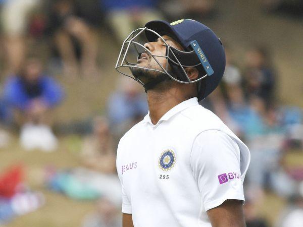 मयंक अग्रवाल 34 रन बनाकर ट्रेंट बोल्ट की गेंद पर आउट हुए। - Dainik Bhaskar