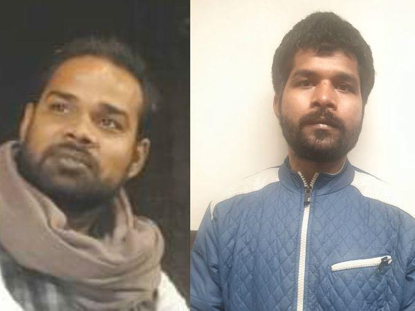 बाएं से- कांग्रेस कार्यकर्ता सुधांशू बाजपेई व अश्वनी कुमार। - Dainik Bhaskar
