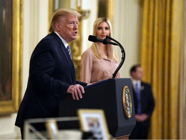 व्हाइट हाउस में मंगलवार को मीडिया को संबोधित करते राष्ट्रपति ट्रम्प।