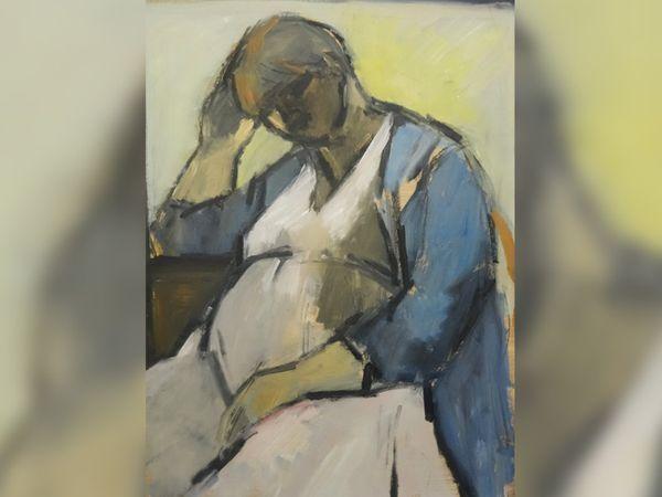 प्रेग्नेंट सेल्फ पोर्ट्रेट यह तस्वीर 1984 में मैंचेस्टर, इंग्लैंड की कलाकार गिसलेन हॉवर्ड ने तैयार की थी। हर्न ने बताया कि यह दर्शाता है कि प्रेग्नेंट होना कैसा लगता है और यह पुरुष कलाकारों के समझ से काफी अलग है।