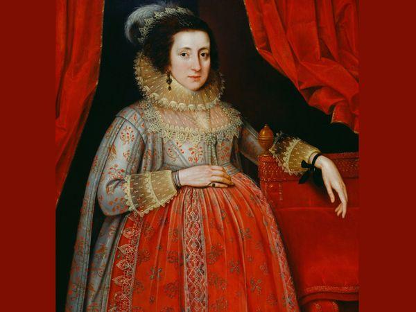 अननोन लेडी इन रेड हर्न ने बताया कि यह चित्र मार्कस घिराएर्त्स ने 1620 में बनाया था। मार्कस कम उम्र में अपने पिता के साथ इंग्लैंड आ गए थे। 1590 के करीब वे दरबार के मुख्य चित्रकार बन गए थे। केरन के मुताबिक, मार्कस 25 साल तक महिलाओं की पेंटिंग बनाते रहे और समय के साथ उनकी कला निखरती गई।