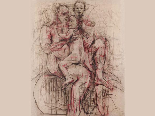इलेक्ट्रा जैनी सेविल को महिलाओं के निडर प्रदर्शन के लिए जाना जाता है। हर्न ने बताया कि सेविल प्रेग्नेंसी जैसे सब्जेक्ट में दिलचस्पी ले रहीं थीं। उन्होंने 2012 में इस पेंटिंग को बनाना शुरू किया और बीते साल इसे खत्म किया।