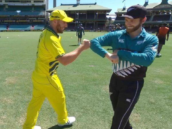 कोरोना के बीच ऑस्ट्रेलिया और न्यूजीलैंड के बीच 13 मार्च को बगैर दर्शकों के वनडे खेला गया था। इसमें ऑस्ट्रेलिया 71 रन से जीता था। - Dainik Bhaskar