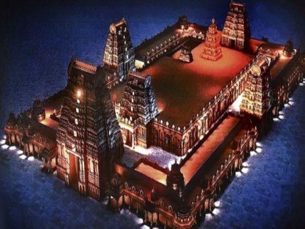 मंदिर का प्रोजेक्ट डिजाइन कुछ ऐसा है। इसे दुनिया के सबसे भव्य मंदिरों में से एक बनाने की कोशिश है।