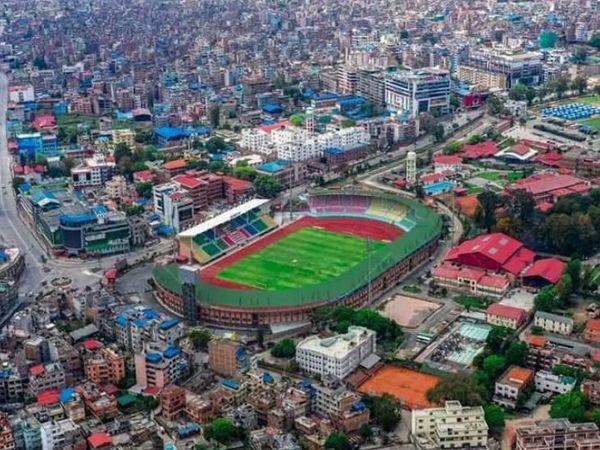 काठमांडू शहर का एरियल दृश्य।