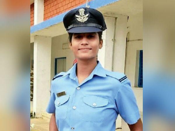 भारतीय वायुसेना में फाइटर पायलट के रूप में चयनित आंचल गंगवाल का कहना है कि सिर्फ एक ही लक्ष्य था कि वायुसेना में जाना है। - Dainik Bhaskar