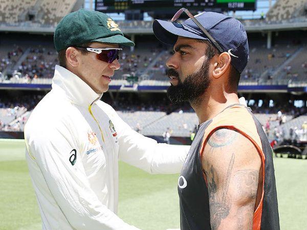 2018 में 4 टेस्ट की सीरीज में विराट कोहली के नेतृत्व में भारत ने टिम पेन की कप्तानी वाली ऑस्ट्रेलिया को उसी के घर में 2-1 से हराया था। - Dainik Bhaskar