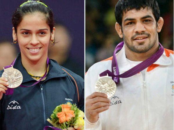 2012 लंदन ओलिंपिक में साइना नेहवाल ने बैडमिंटन में ब्रॉन्ज और रेसलर सुशील कुमार ने सिल्वर मेडल जीता था। - Dainik Bhaskar