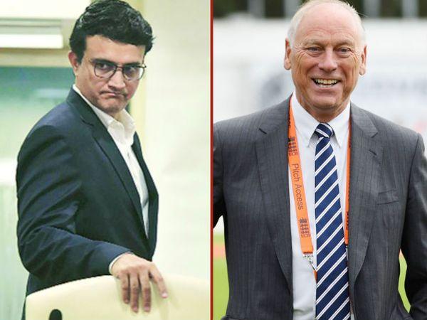 यदि सौरभ गांगुली आईसीसी अध्यक्ष पद के उम्मीदवार नहीं होते हैं, तो बीसीसीआई इंग्लैंड बोर्ड के चेयरमैन कोलिन ग्रेव्स (दाएं) को सपोर्ट करेगी। -फाइल फोटो - Dainik Bhaskar