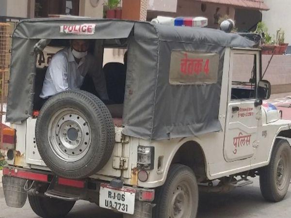 भीलवाड़ा में कोरोना पॉजटिव केस आने के बाद जगह-जगह पुलिसबल तैनात किया गया है। - Dainik Bhaskar