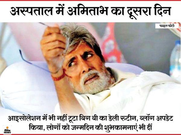 अमिताभ बच्चन जब घर में होते थे तो देर रात तक अपने फैंस को चिटि्ठयां लिखा करते थे। - Dainik Bhaskar
