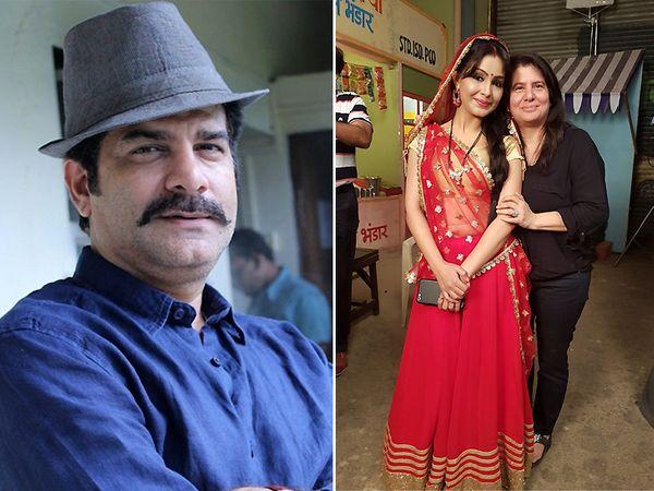 जमनादास मजीठिया और शुभांगी अत्रे के साथ बिनैफर कोहली (दायां फोटो) - Dainik Bhaskar