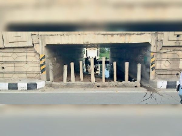 जीरकपुर-पंचकूला रोड पर ग्रीन सिटी के सामने बना अंडरपास। - Dainik Bhaskar
