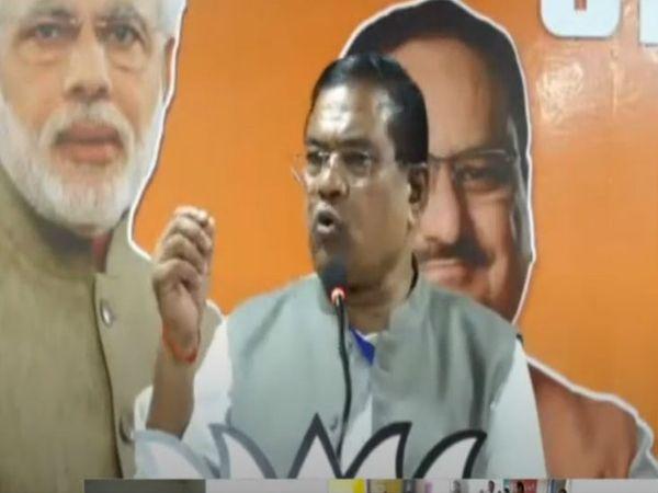 केंद्रीय मंत्री फग्गन सिंह कुलस्ते ने अनूपपुर की वर्चुअल रैली को संबोधित किया। - Dainik Bhaskar